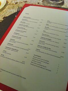 Fermi Puig Restaurant carta
