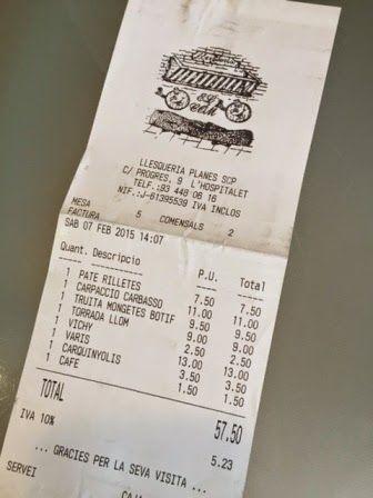 El Com Restaurant tiquet