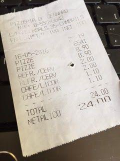 Pizzeria da Genaro tiquet 2