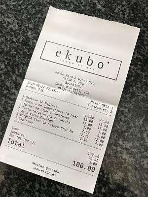 Ekubo Restaurant-tiquet