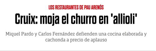 Cruix Restaurant sorros
