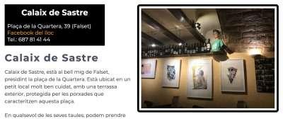 Restaurants Sud de Catalunya calaix de sastre