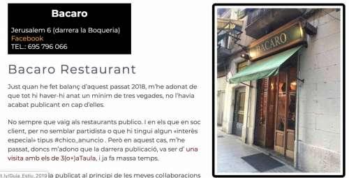 Restaurants BCN 2020 Bacaro