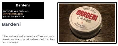 Restaurants Recomanats Barcelona Bardeni