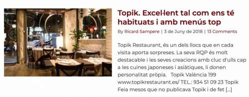 Restaurants Recomanats Barcelona Topik